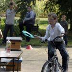 Kerékpártároló átadása